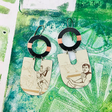 Load image into Gallery viewer, Hoop Dreams Chunky Horseshoes Zero Waste Tin Earrings