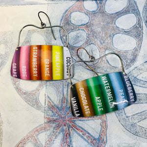 Colored Pencils Rounded Rectangles Zero Waste Tin Earrings