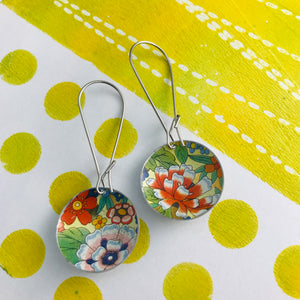 Allover Flowers Medium Basin Earrings