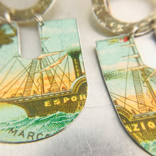Load image into Gallery viewer, Esportazione Schooner Chunky Horseshoes Zero Waste Tin Earrings