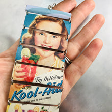 Load image into Gallery viewer, Vintage Kool-Aid Ad Upcycled Tin Bracelet