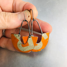 Load image into Gallery viewer, Vintage Orange R&S Little Us Upcycled Tin Earrings
