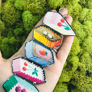 Crazy Cakes Upcycled Tin Bracelet