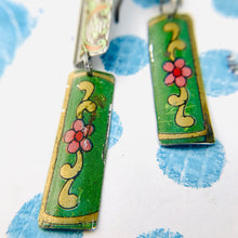 Load image into Gallery viewer, Mixed Vintage Edge Pattern Edge Recycled Tin Earrings