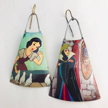 Load image into Gallery viewer, Snow White & Evil Queen Upcycled Vintage Tin Earrings