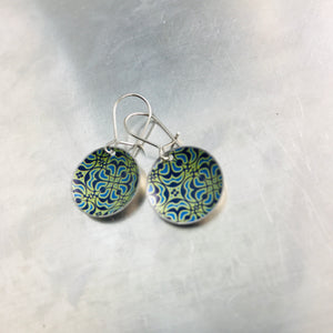 Intricate Pattern Upcycled Tiny Dot Earrings