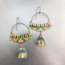 Load image into Gallery viewer, Vintage Mosaic Embossed Pattern Zero Waste Tin Earrings