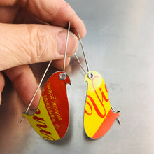 Load image into Gallery viewer, Vienna Cookies Birds on a Wire Upcycled Tin Earrings