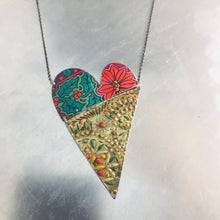 Load image into Gallery viewer, Angled Tin Heart Recycled Necklace