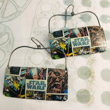 Load image into Gallery viewer, Star Wars Wide Rectangle Recycled Tin Earrings
