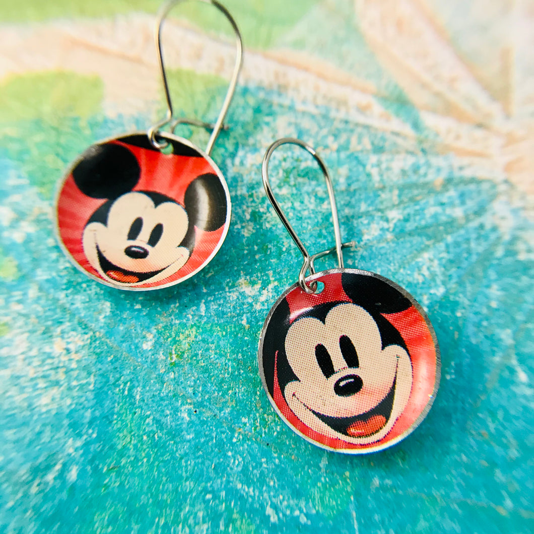 Mickey Mouse Upcycled Tiny Dot Earrings