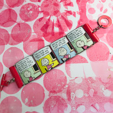 Load image into Gallery viewer, Charlie Brown Comic Strip Upcycled Tin Bracelet