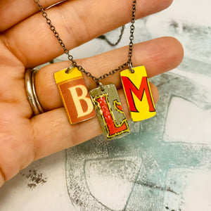 #BLM Upcycled Tin Necklace Ethical Fashion