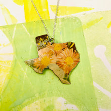 Load image into Gallery viewer, Wildflowers Texas Recycled Tin Necklace