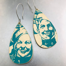 Load image into Gallery viewer, Marching Band Couple Recycled Book Cover Earrings