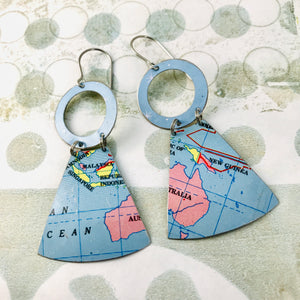 Australia Small Fans Zero Waste Tin Earrings