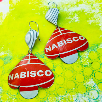 Nabisco Trefoil Upcyled Tin Earrings