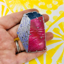 Load image into Gallery viewer, Edifice 1 Upcycled Tin Brooch