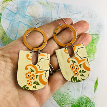 Load image into Gallery viewer, Vintage Sugar Tin Chunky Horseshoes Zero Waste Tin Earrings