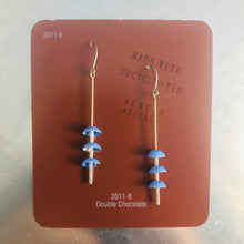 Load image into Gallery viewer, Cornflower Zen Chimes Upcycled Tin Earrings