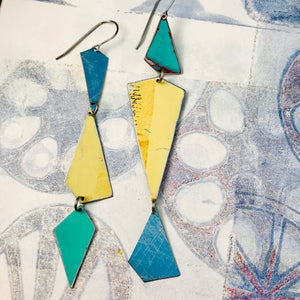 Butter & Seas Small Narrow Kites Recycled Tin Earrings