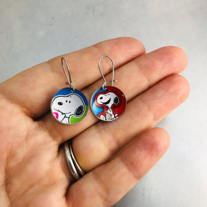 Happy Snoopy Tiny Dot Zero Waste Tin Earrings