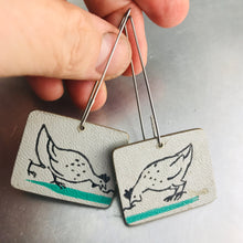 Load image into Gallery viewer, Just Us Chickens Recycled Book Cover Earrings