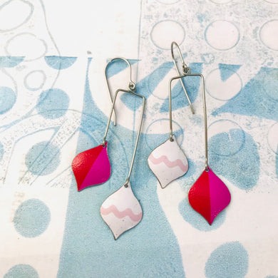 Pink Ornaments Zero Waste Tin Earrings