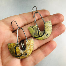 Load image into Gallery viewer, Weathered C & D Little Us Upcycled Tin Earrings