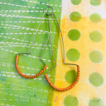 Load image into Gallery viewer, Quirky Orange Spiraled Tin Earrings