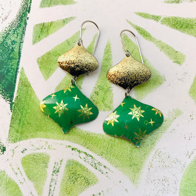 Paris Greens & Gold Rex Ray Zero Waste Tin Earrings