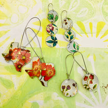 Load image into Gallery viewer, Texas Vintage Wildflowers Upcycled Tin Earrings