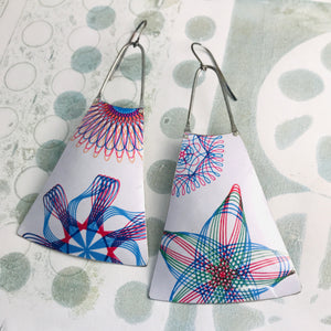 Spirograph Zero Waste Tin Long Fans Earrings