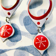 Load image into Gallery viewer, Retro Open Ogee Mod Asterisks Zero Waste Tin Earrings