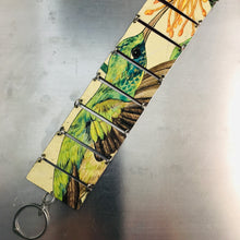 Load image into Gallery viewer, Bright Green Hummingbird Upcycled Tin Bracelet