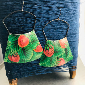 Strawberry Fields Large Zero Waste Tin Earrings