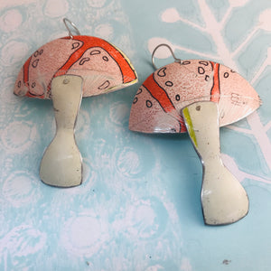 Groovy Grapefruit Mushrooms Zero Waste Tin Earrings