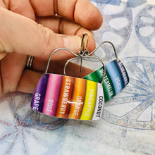 Load image into Gallery viewer, Colored Pencils Rounded Rectangles Zero Waste Tin Earrings
