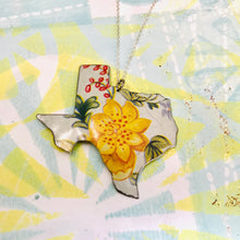 Load image into Gallery viewer, Vintage Yellow Wildflower Texas Recycled Tin Necklace