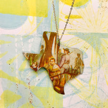 Load image into Gallery viewer, Santa Ana Texas Recycled Tin Necklace