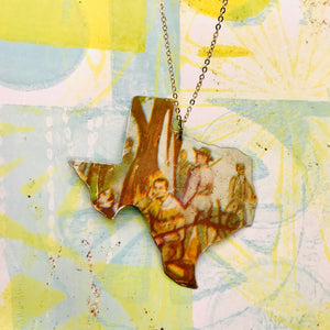Santa Ana Texas Recycled Tin Necklace