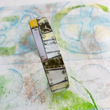Load image into Gallery viewer, Mixed Neutral Trapezoids Upcycled Tesserae Tin Cuff