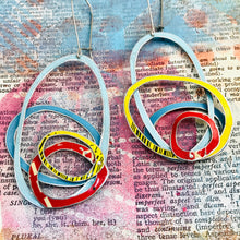 Load image into Gallery viewer, Primary Scribbles Upcycled Tin Earrings
