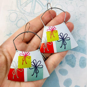 Pile of Presents Zero Waste Tin Earrings