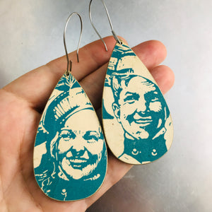 Marching Band Couple Recycled Book Cover Earrings