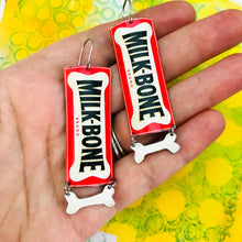 Load image into Gallery viewer, Milk-Bone Recycled Tin Earrings