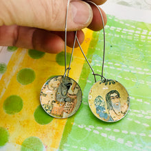 Load image into Gallery viewer, Persian Seekers Large Basin Tin Earrings