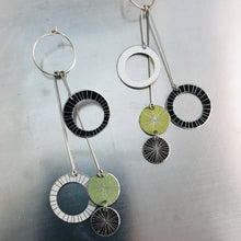 Load image into Gallery viewer, Starburst Rings in Mixed Neutrals Upcycled Tin Earrings