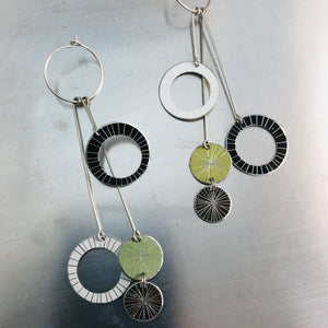 Starburst Rings in Mixed Neutrals Upcycled Tin Earrings