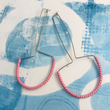 Load image into Gallery viewer, Quirky Pink Spiraled Tin Earrings